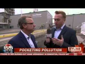 Wall pocketing pollution sun news