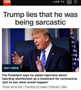 CNN Trump backpeddles disinfectant